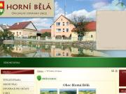 WEBOVÁ STRÁNKA Obec Horní Bělá