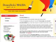 WEBOVÁ STRÁNKA DOMAŽLICKÁ MALBA s.r.o.