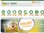 WEBOVÁ STRÁNKA OBALY GREIT s.r.o. Obalov� materi�ly Plze�