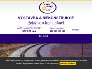 SITO WEB SEZEV-REKO, a.s. Vystavba, rekonstrukce zeleznic