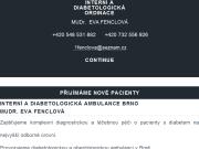 WEBOVÁ STRÁNKA MUDr. Eva Fenclová