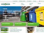 WEBOVÁ STRÁNKA EKO-KOM, a.s. Třídění a recyklace obalových odpadů
