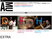 WEBOVÁ STRÁNKA Akademie múzických umění v Praze
