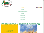 Strona (witryna) internetowa AGRO Jesenice u Prahy a.s.