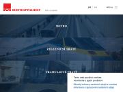WEBOVÁ STRÁNKA METROPROJEKT Praha a.s. Projekční práce pro stavby metra Praha