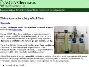 SITO WEB AQUA Cleer s.r.o.