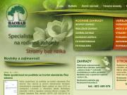 SITO WEB BAOBAB - pece o zelen s.r.o. Navrh, realizace zahrad a parku Praha