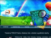 WEBOVÁ STRÁNKA Tiskárna TIROZ Digitální, ofsetový, sítostisk Praha 4