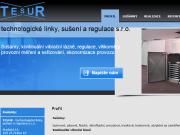WEBOVÁ STRÁNKA Tesur - technologick� linky, su�en� regulace s.r.o.