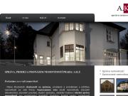 WEBOVÁ STRÁNKA A.K.F. Spr�va nemovitost� a.s. Investi�n� �innost v nemovitostech Praha