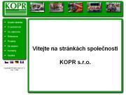 WEBOVÁ STRÁNKA KOPR spol. s r.o.