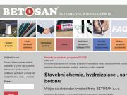 WEBOVÁ STRÁNKA BETOSAN s.r.o. Hydroizolace Praha