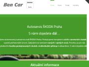 WEBOVÁ STRÁNKA BEN-CAR spol. s r.o.
