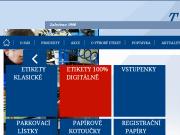 WEBOVÁ STRÁNKA TECOM paper s.r.o. Výroba a prodej etiket Praha