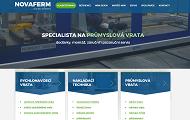 WEBOVÁ STRÁNKA Novaferm, s.r.o. Rychlonavíjecí průmyslová vrata Praha