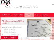 SITO WEB CQS z.s. Certifikace ISO 9001, 14001, 27001