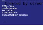WEBOVÁ STRÁNKA ETD TRANSFORMÁTORY a.s.