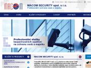 WEBOVÁ STRÁNKA MACOM SECURITY s. r.o. Praha kontrola vstupu a docházky