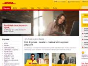 Strona (witryna) internetowa DHL Express (Czech Republic) s.r.o. Mezinarodni expresni preprava zasilek