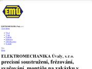 WEBOVÁ STRÁNKA ELEKTROMECHANIKA Úvaly, s.r.o. Výroba a montáž součástek Praha