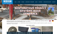 SITO WEB MEDIUM INTERNATIONAL I. s.r.o. Vyroba tesnici materialy Bentonit