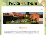 WEBOVÁ STRÁNKA Penzion a vinařství U Hroznu - Anna a Milan Baumanovi