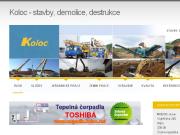 WEBOVÁ STRÁNKA KOLOC s.r.o. Zemní a bourací práce Rokycany