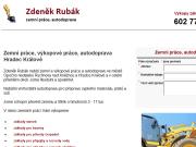 WEBOVÁ STRÁNKA Zdeněk Rubák - Zemní práce, autodoprava