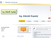 WEBOVÁ STRÁNKA Ing. Zden�k Kupsk�