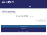 WEBOVÁ STRÁNKA HALOVÉ SYSTÉMY s.r.o.