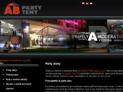 SITO WEB AB PARTY TENT spol. s r.o. Pronajem party stanu