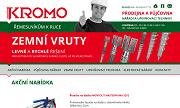 WEBOVÁ STRÁNKA KroMo Brandýs s.r.o. Prodejna a půjčovna nářadí