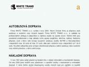 WEBOVÁ STRÁNKA WHITE TRANS Aleš Havlíček