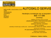 WEBOVÁ STRÁNKA AUTOSKLO SERVIS CZ, s.r.o. Praha 5 - Radotín