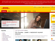 SITO WEB DHL Express (Czech Republic) s.r.o. Tuzemska expresni preprava zasilek Praha