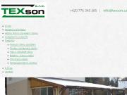 WEBOVÁ STRÁNKA TEXson, s.r.o.