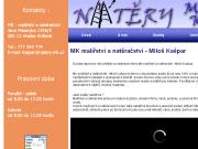 SITO WEB Milos Kaspar - malirstvi a nateracstvi