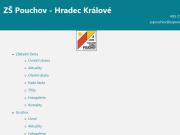 WEBOVÁ STRÁNKA Základní škola, Hradec Králové - Pouchov, K Sokolovně 452