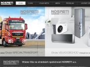 WEBOVÁ STRÁNKA NOSRETI a.s. divize Specialtransport