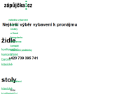 SITO WEB ZAPUJCKA.CZ S.R.O. Pronajem  interieroveho vybaveni Praha