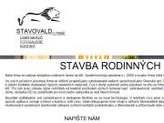 WEBOVÁ STRÁNKA Stavovald Vladimír Vald
