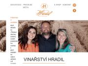 WEBOVÁ STRÁNKA Vinařství Hradil