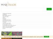 WEBOVÁ STRÁNKA M.A.B. Trade, s.r.o. Internetový obchod s látkami