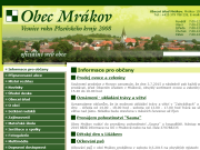 WEBOVÁ STRÁNKA Obec Mr�kov Obecn� ��ad Mr�kov