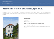 WEBOVÁ STRÁNKA Veterinární centrum Za Kocábou, spol. s.r.o.