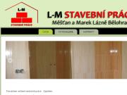 WEBOVÁ STRÁNKA L-M stavební práce - Luboš Měšťan