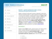 WEBOV� STR�NKA MUDr. Vladim�ra Kohoutov� HACCP pro zdravotn� bezpe�nost potravin