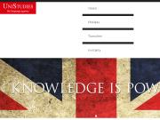 Strona (witryna) internetowa UniStudies s.r.o. UNISTUDIES the language agency