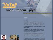 SITO WEB VOTOP Praha s.r.o. voda topeni plyn