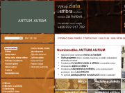 WEBOVÁ STRÁNKA ANTIUM AURUM s.r.o. Výkup a prodej mincí Praha